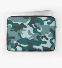 Turquoise Camouflage pattern Laptop Sleeve