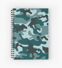 Turquoise Camouflage pattern Spiral Notebook