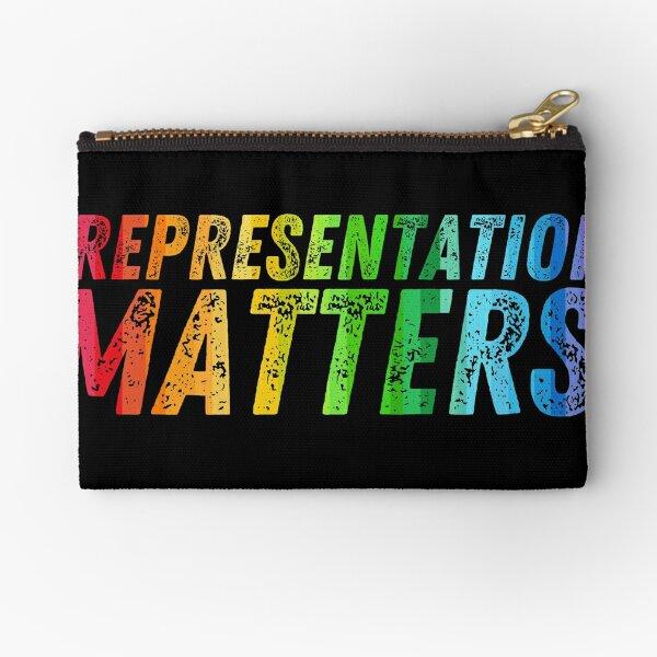 Representation Matters - LGBTQ+ Gradient Pride Flag Zipper Pouch