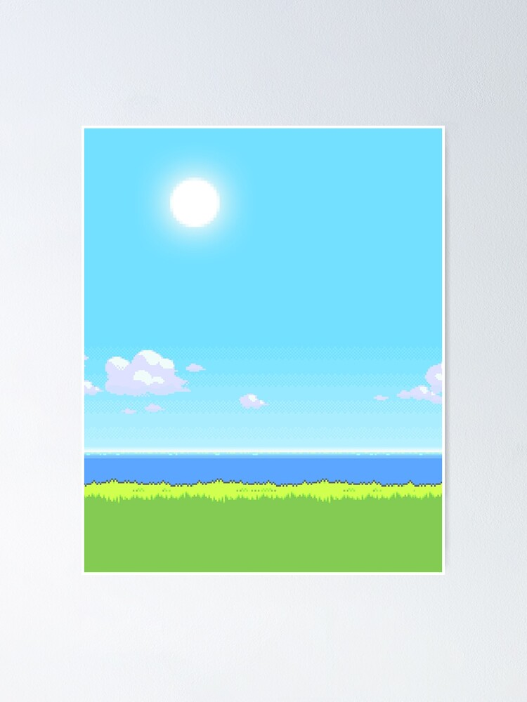 Pokemon Pixel Art 8 Bit Landscape Day Poster By Imvectress Redbubble All your favorite pokemon in one place from the first to the eighth generation pixel art free down… redbubble