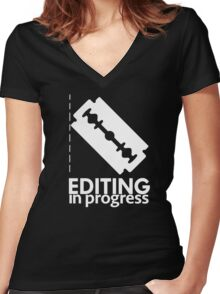 EDITING Women's Fitted V-Neck T-Shirt