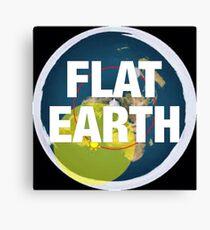 Flat earth, alternate science, Canvas Print