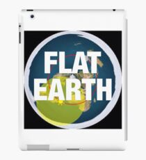 Flat earth, alternate science, iPad Case/Skin