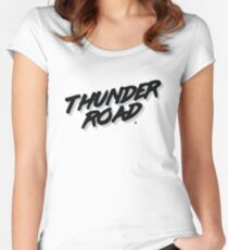 'Thunder Road' - Inspired by the Springsteen song (unofficial) Women's Fitted Scoop T-Shirt