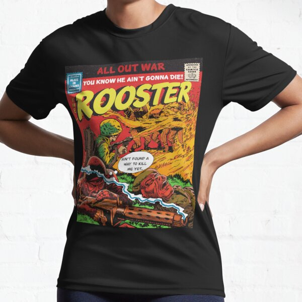 Alice In Chains - Rooster Parody Comic Book Art Active T-Shirt