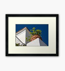 Contemplating Mediterranean Vacations - Red Tile Roofs and Terracotta Flowerpots Framed Print