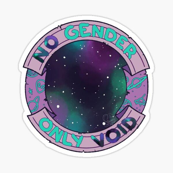 no gender only void Sticker