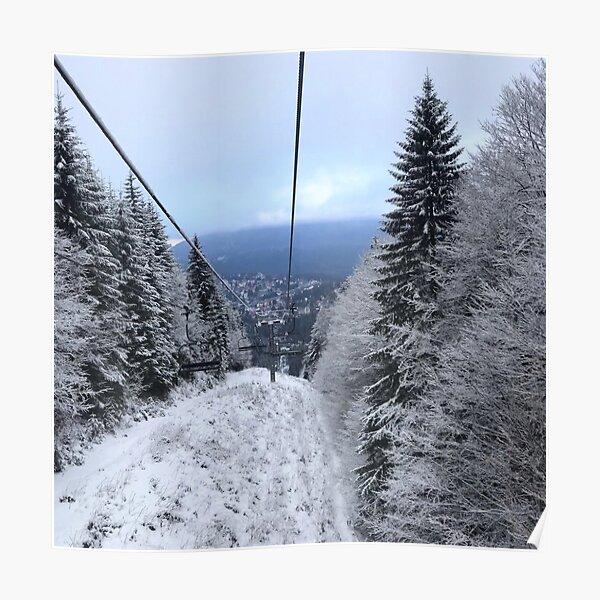 Winter on the ski slope Poster