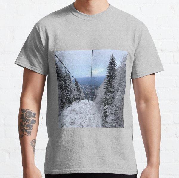 Winter on the ski slope Classic T-Shirt