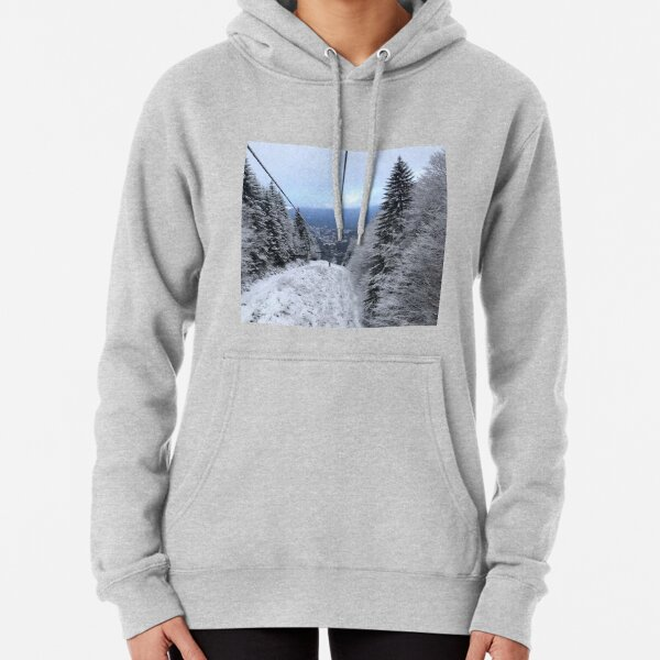 Winter on the ski slope Pullover Hoodie