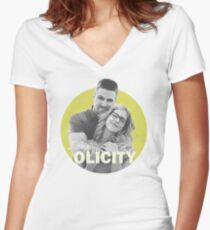 I Ship Olicity - Arrow Women's Fitted V-Neck T-Shirt