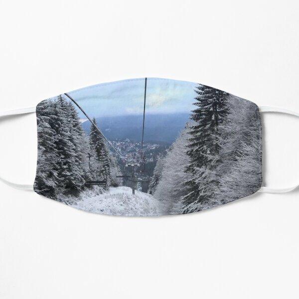 Winter on the ski slope Flat Mask