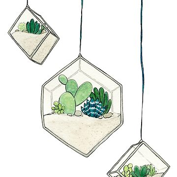 Hanging Succulents One by JenniferCharlee