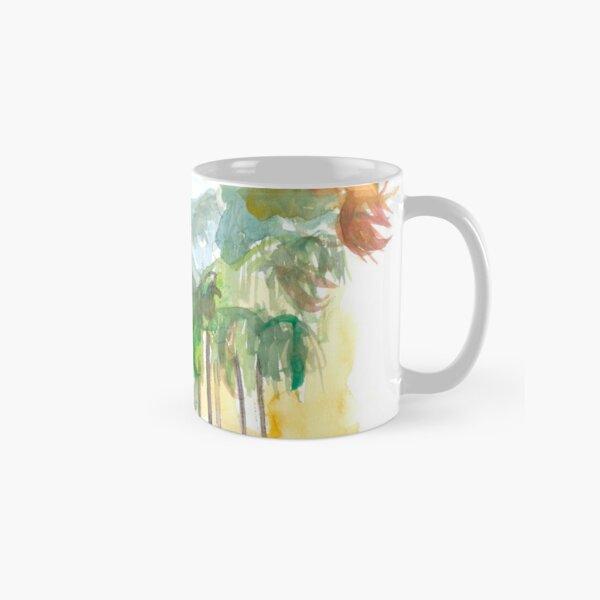 Santa Barbara California Street Scene with Palms Classic Mug