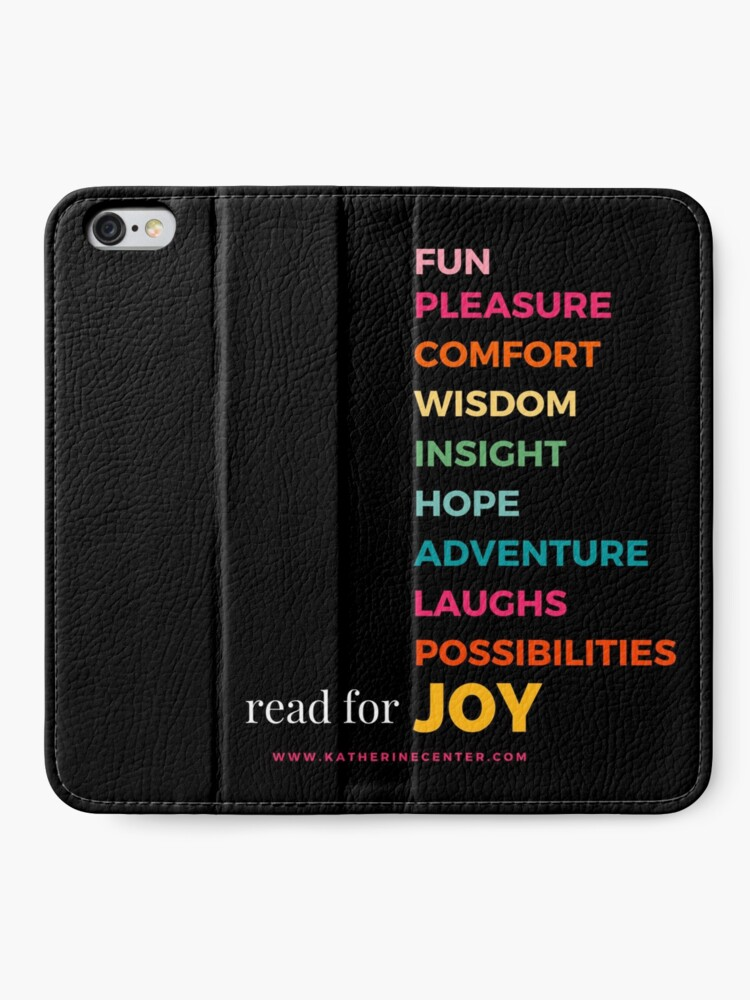 Alternate view of READ FOR EVERYTHING iPhone Wallet