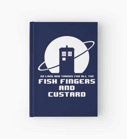 Fish Fingers and Custard White Hardcover Journal