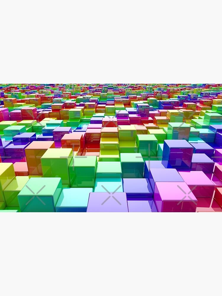 Rainbow Cubes by GaiaDC