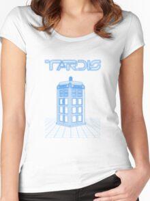 Retro Arcade Film Box  Women's Fitted Scoop T-Shirt