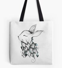 Poetic Rabbit  Tote Bag