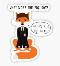 What does the Fox say? Sticker