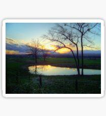 Reflective Sunset Sticker