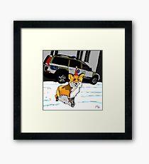 Fox n cops Framed Print
