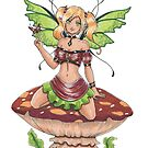 Toadstool Fairy by rbrogdenart