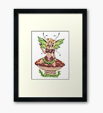 Toadstool Fairy Framed Print