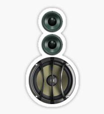 Massive Sound Bass Music Speaker Tee - White Cell Phone Cover Sticker