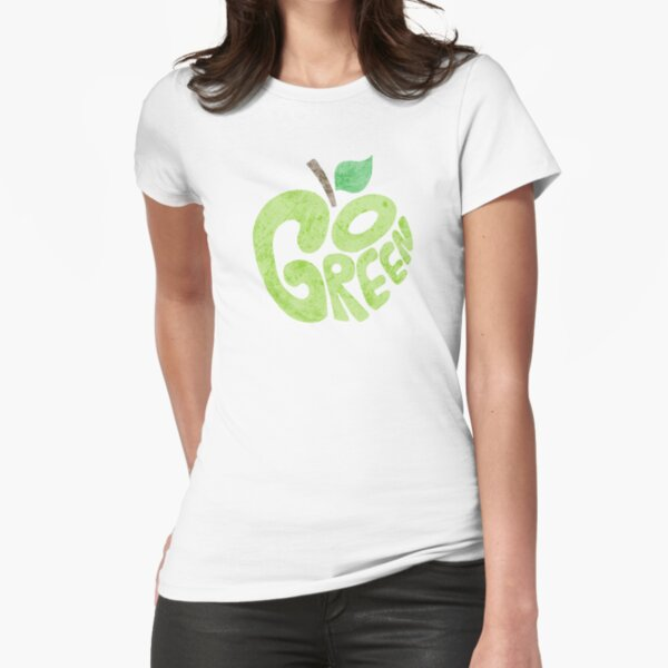 Go Green Apple Fitted T-Shirt