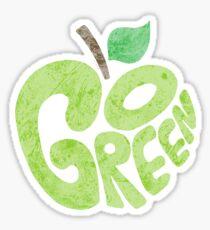 Go Green Apple Sticker