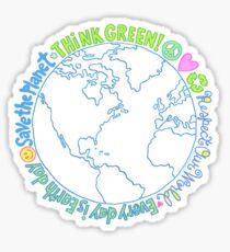Think Green World Sticker
