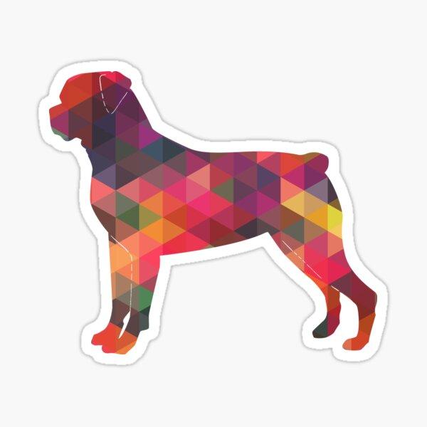 Rottweiler Colorful Geometric Pattern Silhouette Multi Sticker