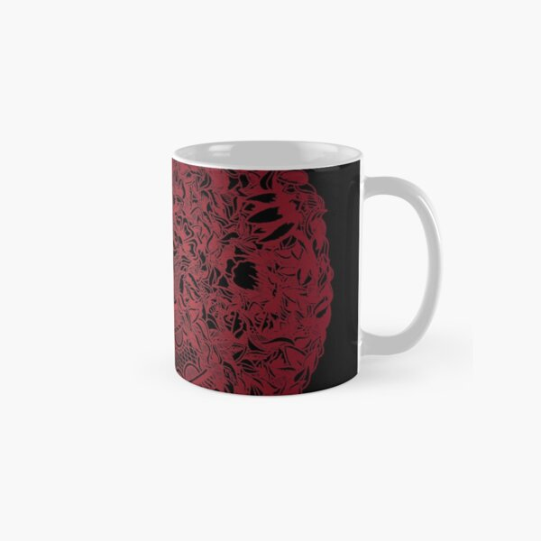 50Floral Mandala | Cherry Red by SimmyGhatt Classic Mug