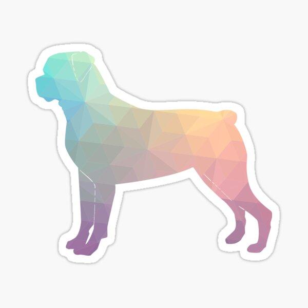 Rottweiler Colorful Geometric Pattern Silhouette Pastel Sticker