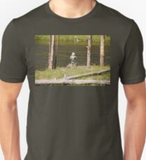 Fly fishing in Yellowstone Unisex T-Shirt