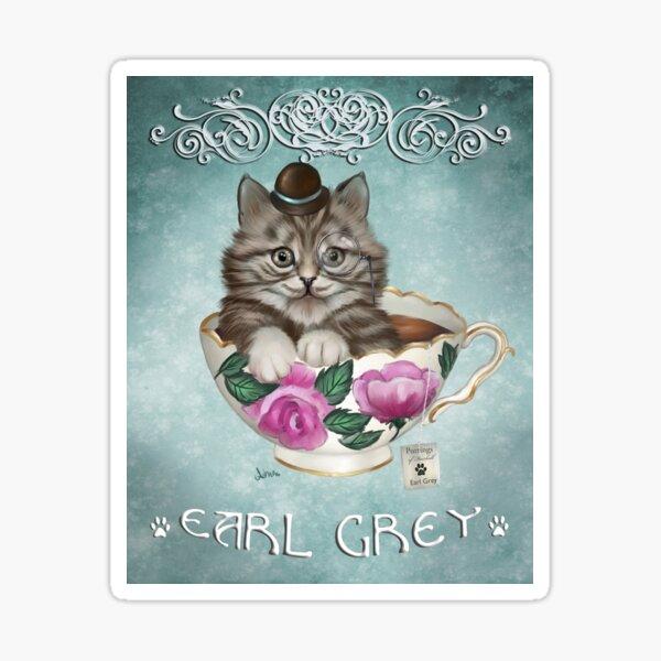 Earl Grey Kit Tea Sticker