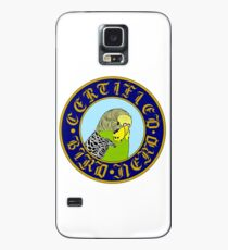Certified Bird Nerd (budgie yellow/green) Case/Skin for Samsung Galaxy