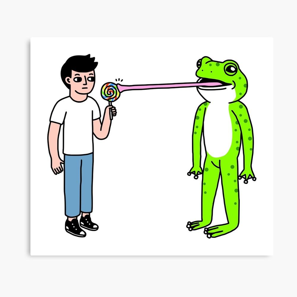 Lollipop Frog Canvas Print