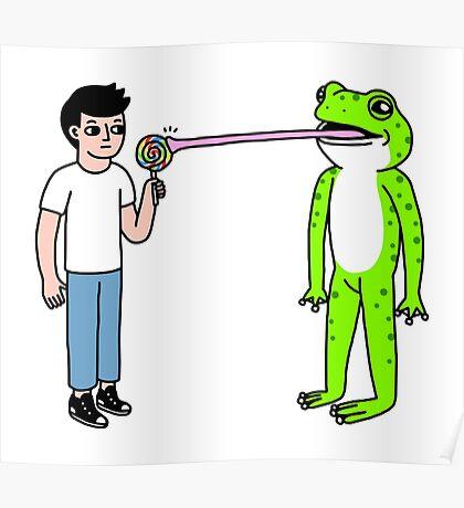 Lollipop Frog Poster