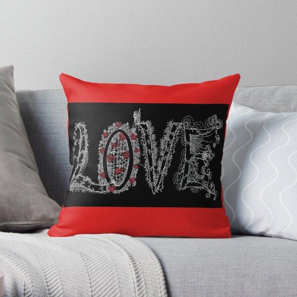 My LOVE-Alphabet art Throw Pillow