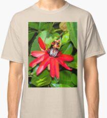 Crimson Passion Flower Classic T-Shirt