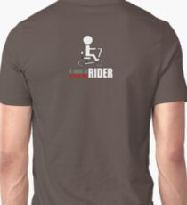 I am a scoot rider (back) Unisex T-Shirt