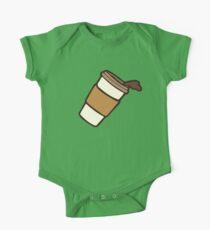 Take it Away Coffee Pattern One Piece - Short Sleeve