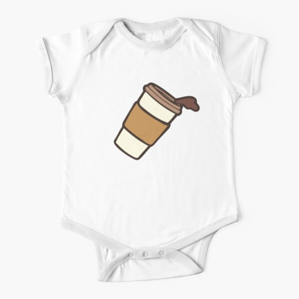 Take it Away Coffee Pattern Short Sleeve Baby One-Piece