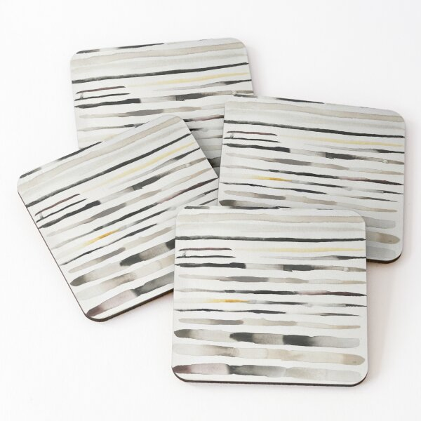 Feathers Watercolor Coasters (Set of 4)