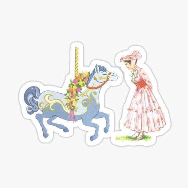 Retro Jolly Holiday Sticker