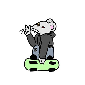 Skater Mouse- White by andromedakid
