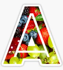 The Letter A - Fruit Sticker