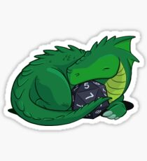 Pegatina D20 Green Dragon